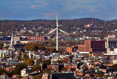 MWRA's Charlestown Wind Turbine. Photo copyright