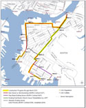 East Boston Branch Sewer Relief Project map - MWRA