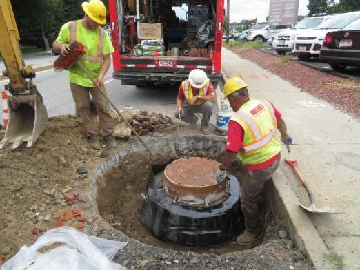 Sewer Project Work in Reading, MA (MWRA)
